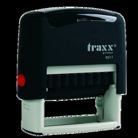 Promo sello completo Traxx (9011) Negro + 3 líneas de texto