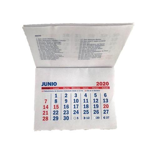 Calendario 2020 Sin Espiral 7.5x10 cm (Pack x 25 Un)