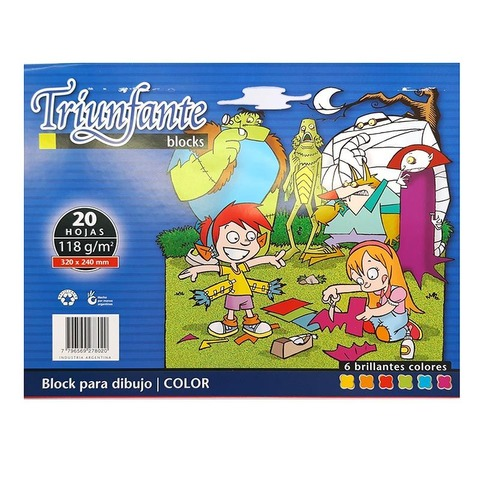 Block de dibujo Nº5 Color Triunfante 20hojas