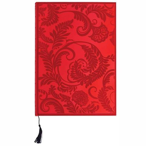 Cuaderno de notas Boncahier Velvet Rojo