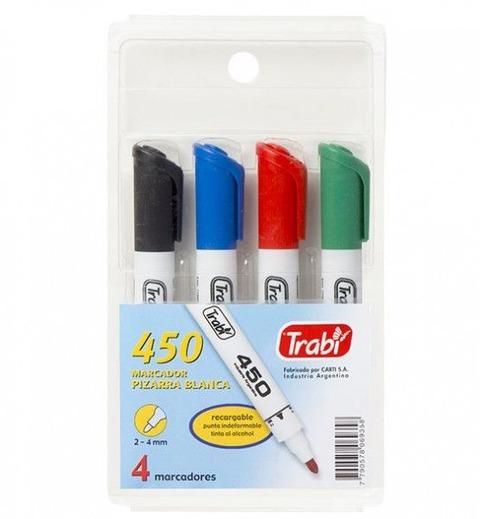 Marcadores Pizarra Trabi 450 x4 colores