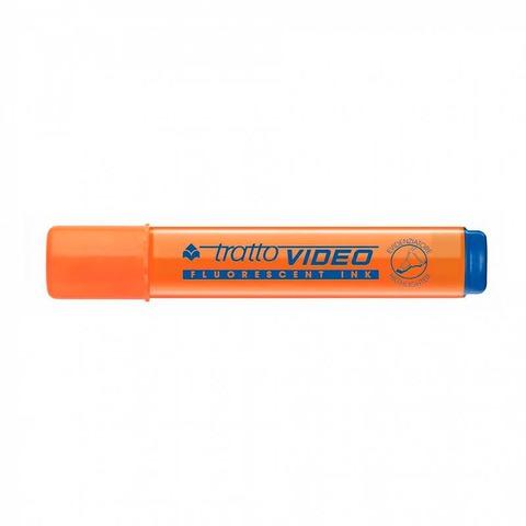 Resaltador Tratto Video Plano Fluo Naranja