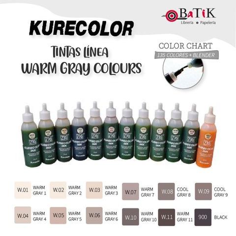 Tinta Kurecolor Línea: Warm Gray Colours (gises cálidos y negro)
