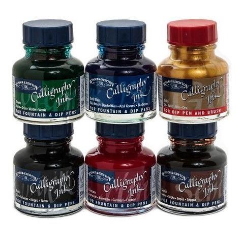 Tinta de Caligrafía Winsor & Newton Colores Setx6