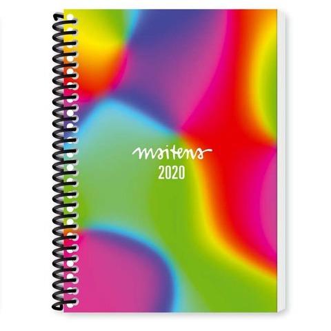 Agenda 2020 Granica Lic. Maitena Semanal Nº8 Espiralada Multicolor