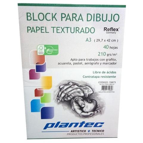 Block Plantec A3 Texturado 210gr 40h Emblocado