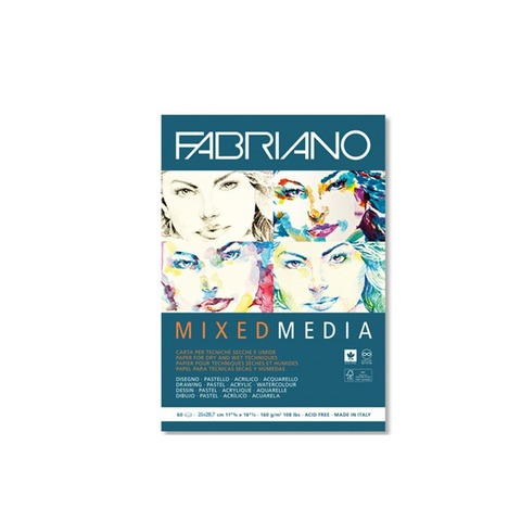 Block Fabriano MixMedia 160gr A4 (60h)