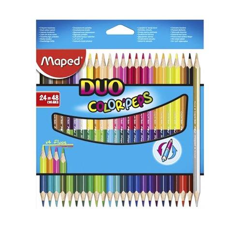 Lápiz Maped Colorpeps x24 Bicolor (48 Colores)