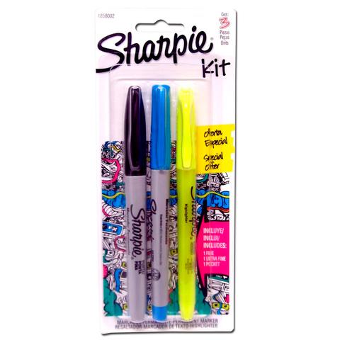 Marcador Sharpie Kit Set x3 Surtido Punta Fina y Ultra Fina