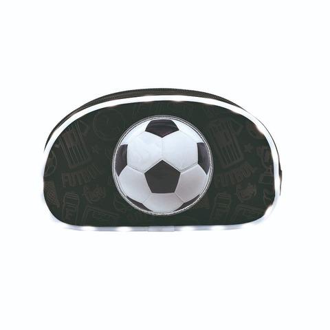 Cartuchera Canopla Footy 11014 Soccer 2 cierres c/luz led Negra