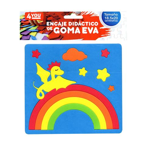 Goma Eva Set Encastre Surtido (18.5x20) Dragon Azul