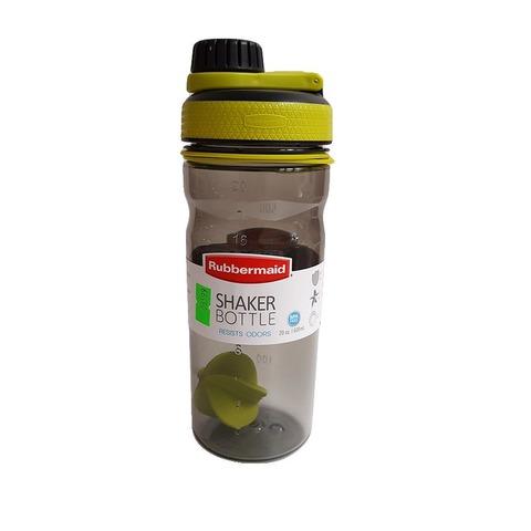 Botella Reutilizable Rubbermaid 600ml Shaker Verde