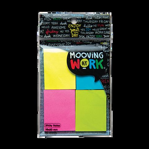 Notas Adh. 38x50mm.200hojas (4x50) Mooving (2100101) Neon