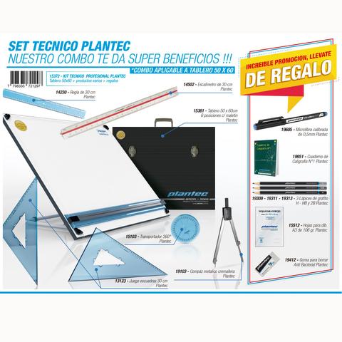 Tablero Plantec Con Maletín y Set Técnico 50x60cm