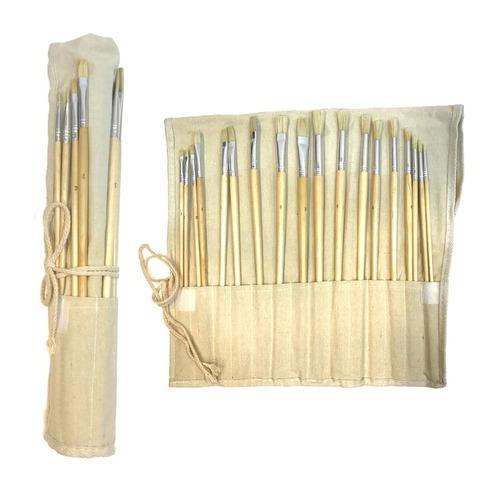Pack de Pinceles Set Artmate con Portapinceles x18 (cerda)