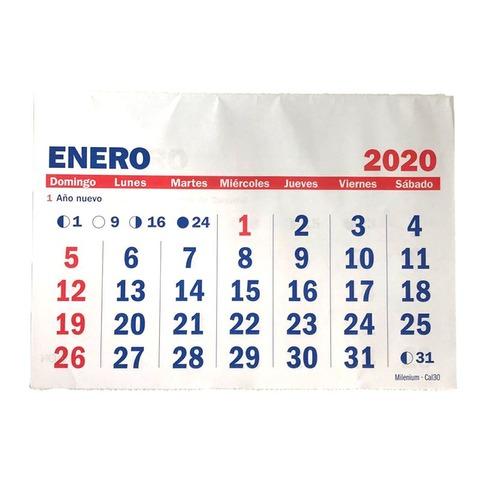 Calendario 2020 Sin Espiral 21x30 Cm
