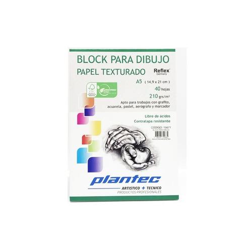 Block Plantec A5 Texturado 210gr 40h Emblocado