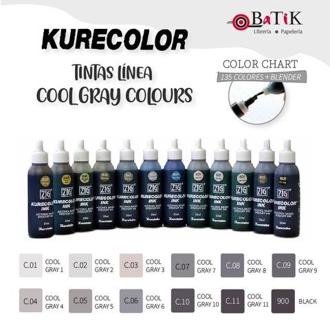 Tinta Kurecolor Línea: Cool Gray Colours (grises fríos y negro)