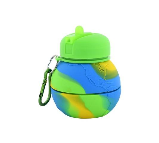 Botella Reutilizable Footy Silicona Pelota Verde Manzana