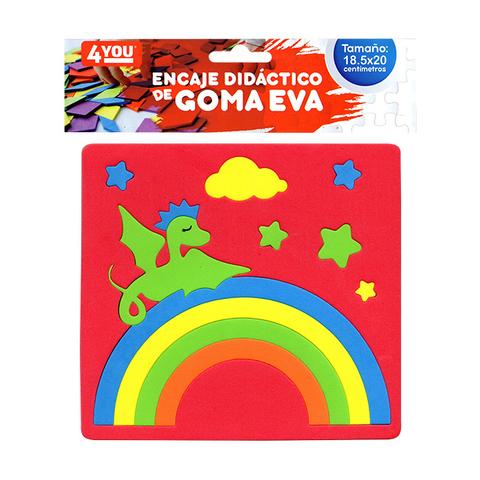 Goma Eva Set Encastre Surtido (18.5x20) Dragon Rojo