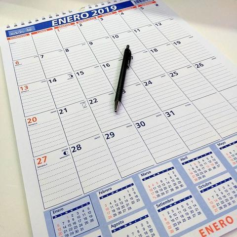 Calendario 2019 Nivel10 30.5x43cm (3337)