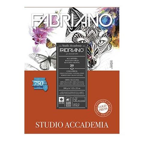 Block Fabriano Accademia Studio 200gr 23x32cm (20h)