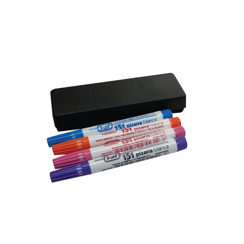 Marcadores de Pizarra Trabi Nº151 x4 Colores Alternativos + Borrador Mini