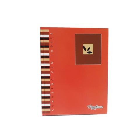Cuaderno con Índice Tapa Dura 100 hojas 22x16cm