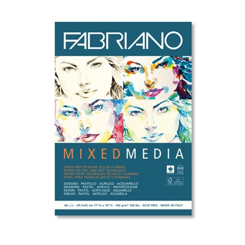 Block Fabriano MixMedia 160gr A3 (60h)