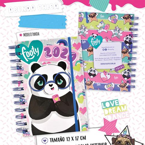 Agenda 2020 Footy 12x17cm Semanal Panda