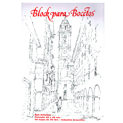 Block Rab Boceto 22x32 Hojas Blancas