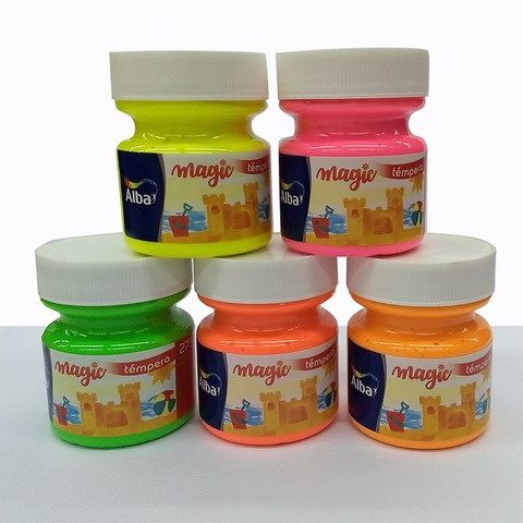 Tempera Alba Magic Fluo Pote 275cc