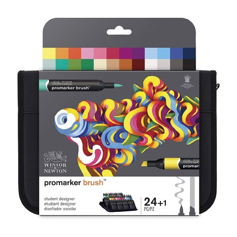 Marcadores Winsor & Newton Brushmarker Set 24 Colores (Promarker Brush)