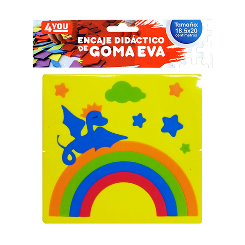 Goma Eva Set Encastre Surtido (18.5x20) Dragon Amarillo