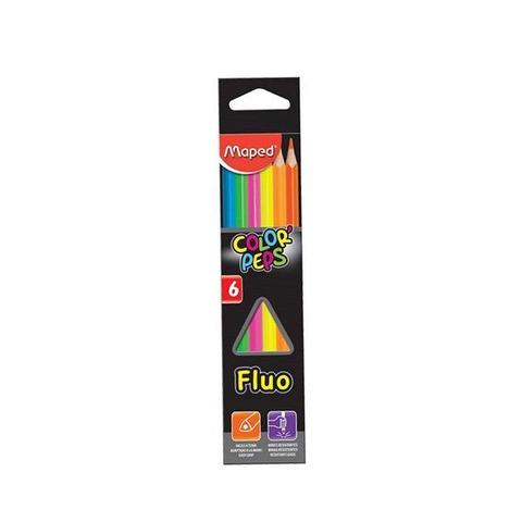 Lápiz Maped Color Peps x6 Fluo