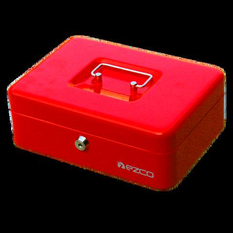 Cofre Portavalores Ezco 8878M Mediano Rojo
