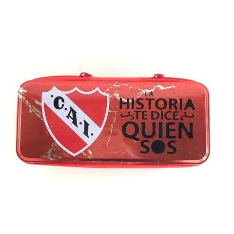 Cartuchera Canopla Lata Mooving c/cierre Grande Club Atlético Independiente