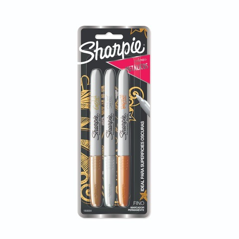 Marcador Sharpie set x 3 Colores Metálicos Clásicos