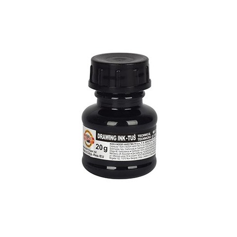 Tinta China Koh-i-noor 20gr Común color Negro