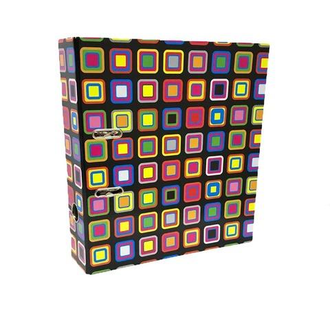 Bibliorato Fantasía A4 Lomo 7cm Cuadros de colores