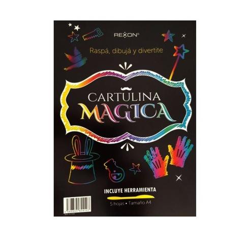 Cartulina Mágica Rexon Set A4 x5 + Herramienta