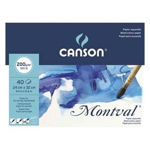 Block Canson Montval 200grs - 24x32 40hojas (Encolado)