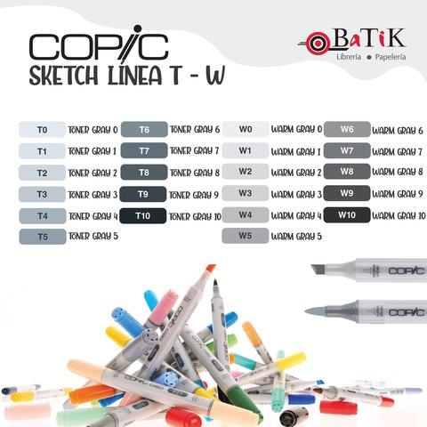 Copic Marcador Sketch  Línea T - W