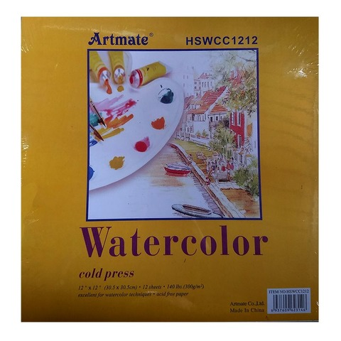 Block 30,5x30,5 Artmate Acuarela HSWCC1212