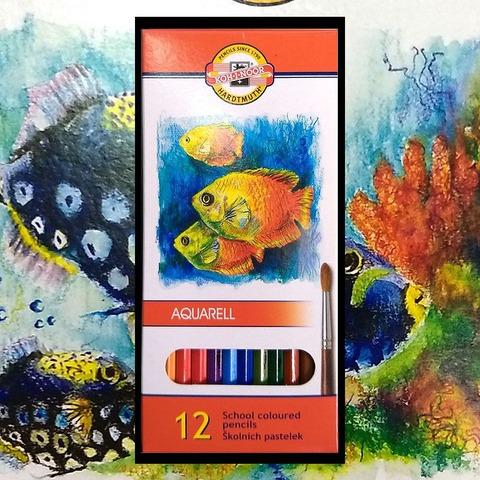 Lápiz Koh-i-noor Acuarelable Fish Cartón x12