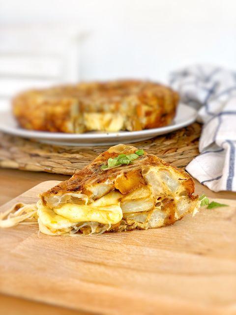 Tortilla con corazón de queso