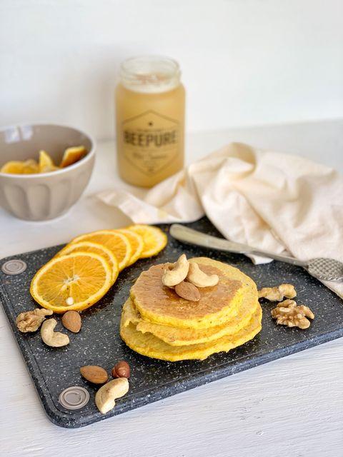 Pancakes de naranja y miel