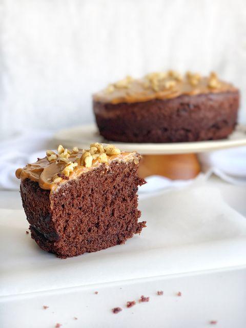 Torta húmeda de chocolate y café