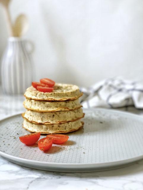 Pancakes salados con solo 3 ingredientes