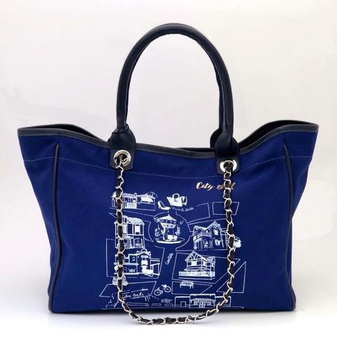 Bolso City Bell Azul/Negro